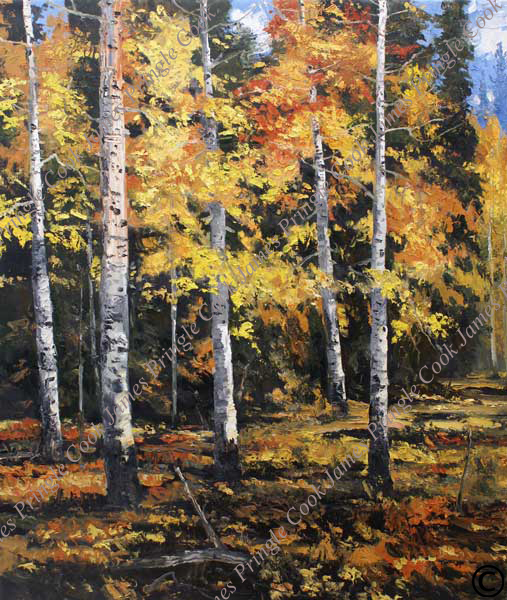 "Pinetop Aspen-Autumn #2, 70""x60"""